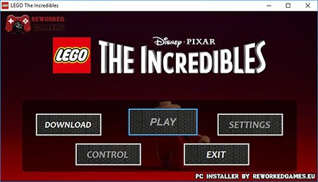 LEGO The Incredibles PC Installer Menu