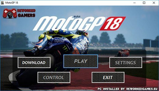 MotoGP 18 Download Installer Menu